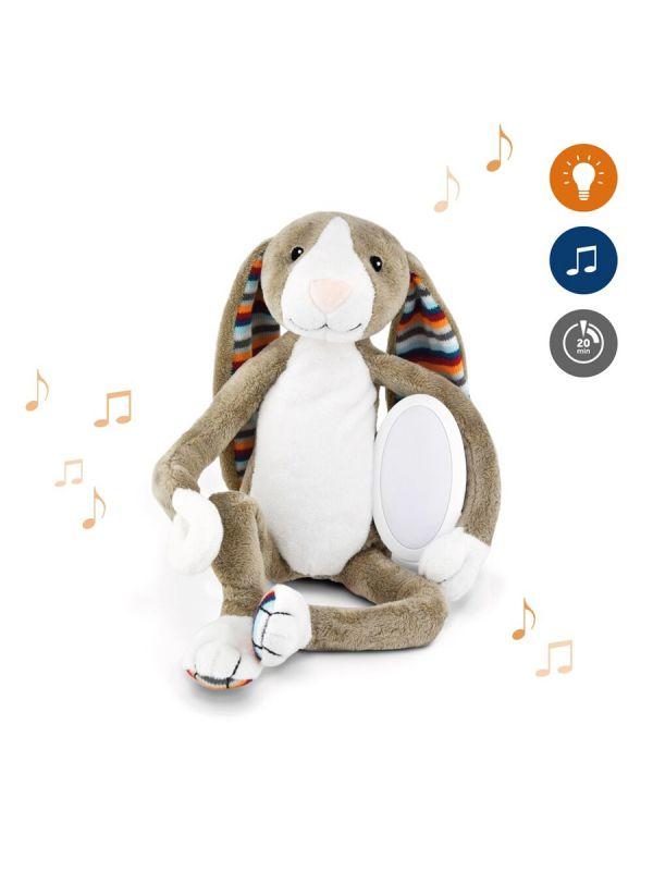 Zazu Bo pupu pehmolelu, joka toimii yövalona ja soittaa musiikkia. Valo sammuu automaattisesti ja lapsi saa valon helposti uudelleen itse päälle. Helpottaa ja rauhoittaa lapsen nukkumaanmenoa.