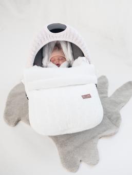Lämpöpussi turvakaukaloon/ vaunuihin | Baby's Only (valkoinen)