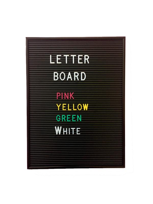 Letter Board kirjaintaulu (musta)