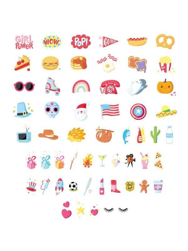 Lightbox valotauluun 57 amerikkalaista symbolia.