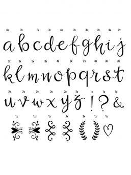 Lightbox – lisäkirjaimet, Script
