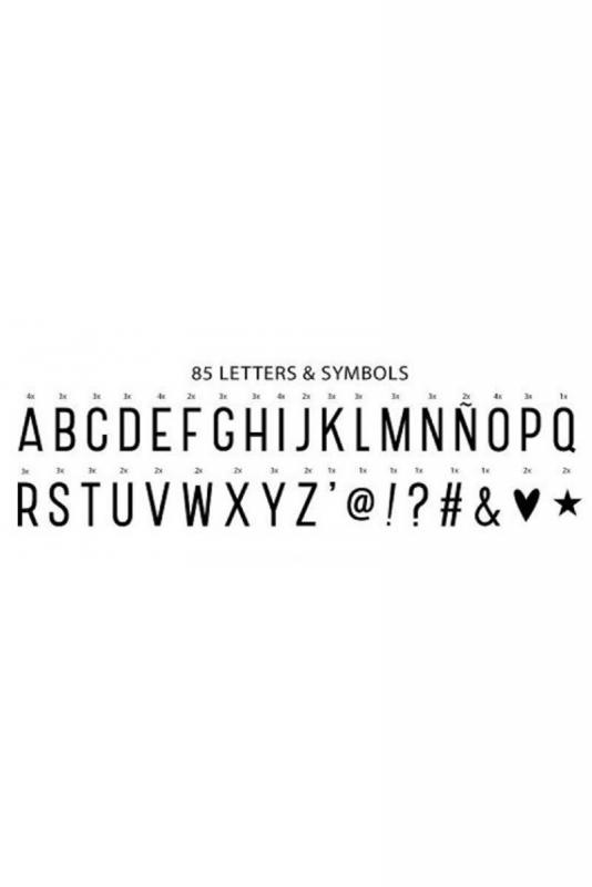 Lightbox – kirjainvalotaulu A4 (valkoinen)