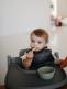 Mushie pehmeät silikonilusikat vauvan ruokintaan.
