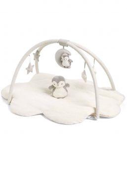 Mamas&Papas Wish Upon a Cloud vaalea leikkimatto. Mukana pehmolelupingviini vauvalle. Superpehmoinen ja viihtyisä vauvan puuhamatto aktivoi vauvan aisteja ja antaa paljon puuhaa ja tuijoteltavaa vauvalle. Vauva voi tarttua ja vetää leluja, kaikki lelut ovat turvallisia irrotessaankin. Puuhamatto on pilvenmuotoinen ja materiaali ylellistä tekoturkista