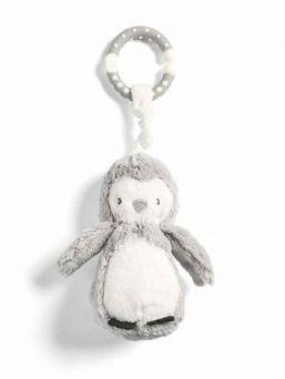 Mamas & Papas suloinen pehmeä pingviini, jonka saat kiinnitettyä helposti turvakaukaloon, vaunuihin pinnasänkyyn, vaipanvaihtopisteelle tai sitteriin vauvan seuraksi.