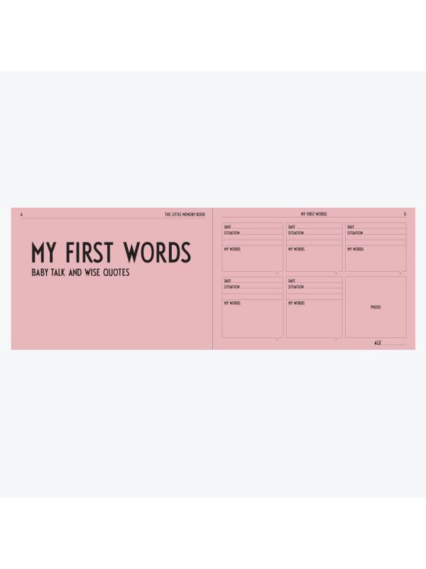 Design Letters Memorybook vauvakirja (rosa)