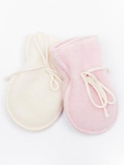 Superpehmeät merinovillaiset LANAcare vauvan tumput. Vauvan kädet pysyvät lämpöisinä tumpuissa joissa kaksikerrosta merinovillaa. Estävät lisäksi vauvaa raapimasta kasvojaan.