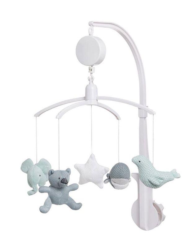 Kaunis ja vaaleansävyinen Baby´s Only mobile lapsen pinnasänkyyn. Mobile soittaa rauhoittavaa sävelmää ja se on helppo kiinnittää vauvan pinnasänkyyn.