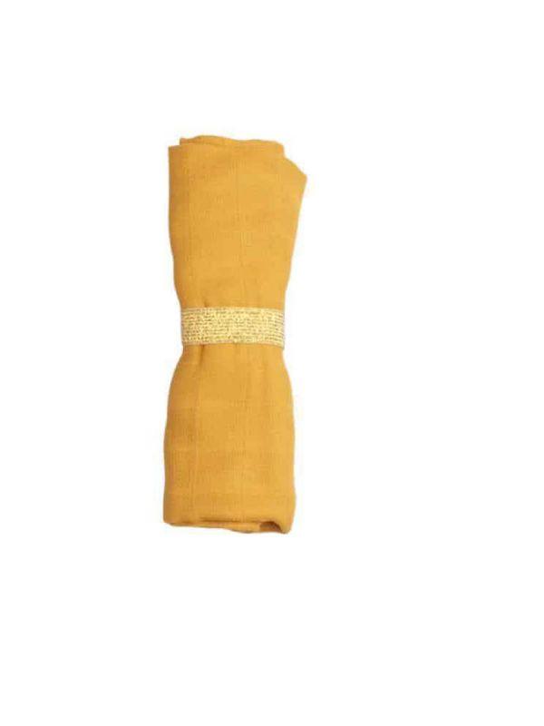 Monikäyttöinen FABELAB harsoliina lapsenhoitoon. Harso valmistettu luomupuuvillasta.