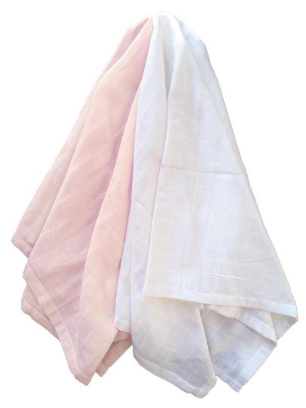 Puuvillainen harsosetti 2-pack, pale rosa