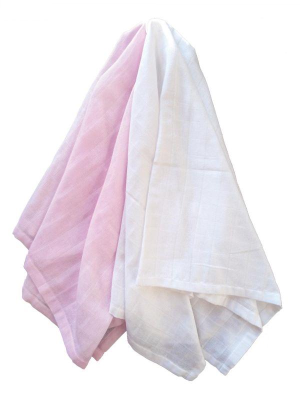 Puuvillainen harsosetti 2-pack, rosa