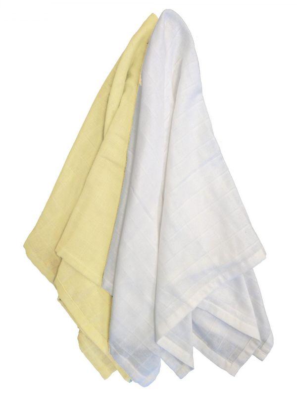 Puuvillainen harsosetti 2-pack, keltainen