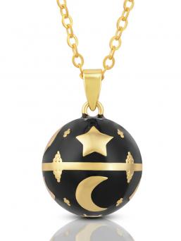 BOLA - kultaiset tähdet ja kuu (musta)