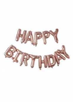 Ginger Ray folioilmapallo Happy Birthday, ruusukulta