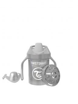 Twistshake Cup nokkamuki 230ml 4+m Non Spill, Pearl Grey