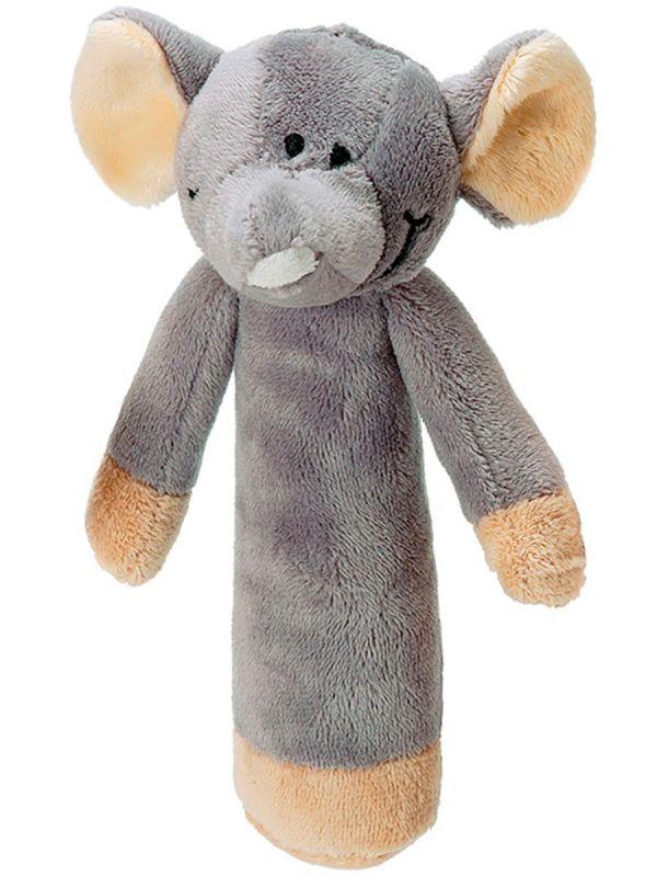 Teddykompaniet pehmeä helistin (harmaa norsu)