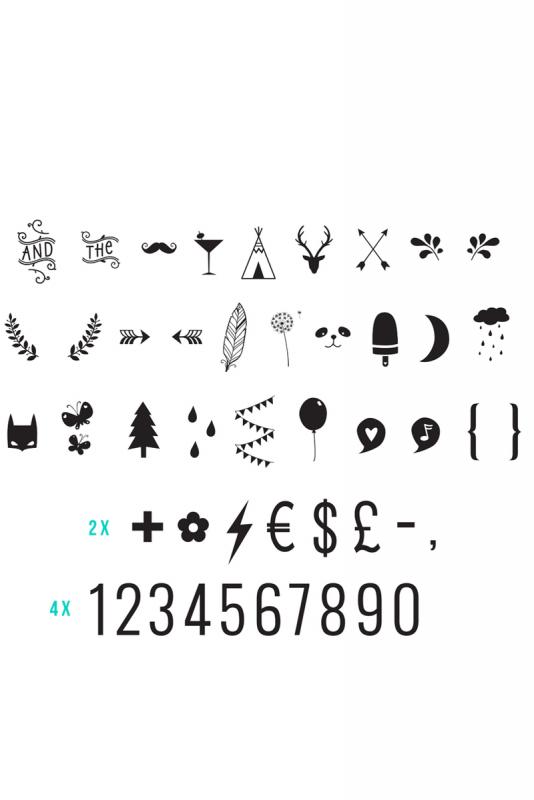 Lightbox – lisäkirjaimet (numbers & symbols)