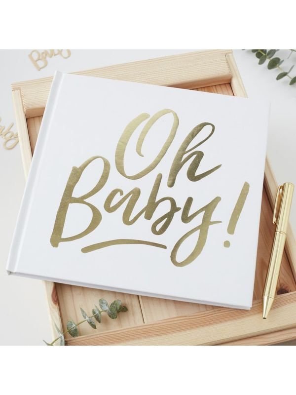 Täydellinen, vaaleasävyinen vieraskirja vauvajuhliin.  Jos etsit ainutlaatuista vieraskirjaa,
