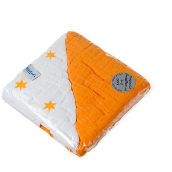 SNUTTEN harsot 3+3kpl (oranssi-oranssi tähdet)