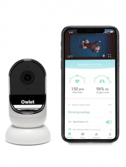 Owlet Cam Video baby monitor. Näe ja kuulle vauvasi milloin tahansa! Owlet cam on videoitkuhälytin joka lähettää HD-laatuista videokuvaa turvallisen langattoman verkon välityksellä helposti ja vaivattomasti.