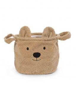 Suloinen ja pehmeä Childhome Teddy malliston säilystykori. Säilytyskori on täydellinen lelujen, vaatteiden ja muiden esineiden säilyttämiseen