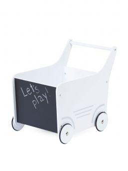 Upea Childhome puinen kävelyvaunu, joka sopii kävelemään opetteleville lapsille. Vaunu on täydellinen lastenhuoneen katseenvangitsija, voit täyttää vaunun lapsen lempileluilla ja käyttää lapsen kasvettua sisustuselementtinä.
