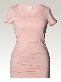 BOOB Äitiys- ja imetys T-paita Ruched Top (pale blush)