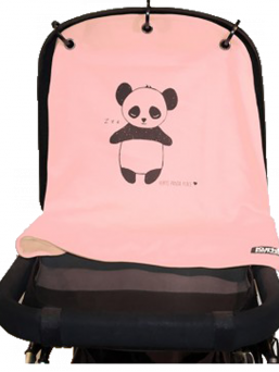 Kurtis Baby Peace vaunusuoja - panda (roosa)