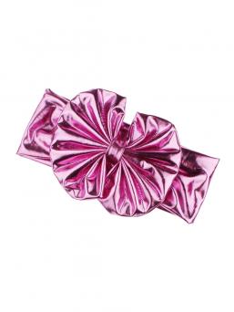 Rusettipanta (metallinhohto pinkki)