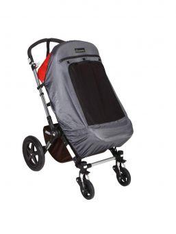 SnoozeShade Plus Deluxe vaunun pimennysverhon avulla lapsesi saa hyvät päiväunet reissun päällä rattaissa ja verho suojaa myös lastasi auringon UV-säteiltä.