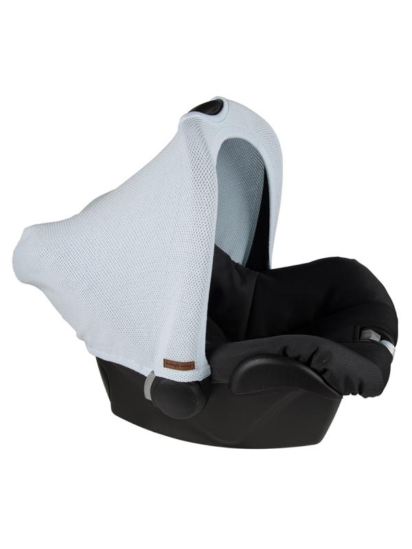 Suojaava kuomu vauvan turvakaukaloon sileäneulos | Baby's Only (powder blue)