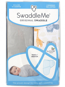 SwaddleMe kapalo 0-3kk 2-pack (bohemian jungle)