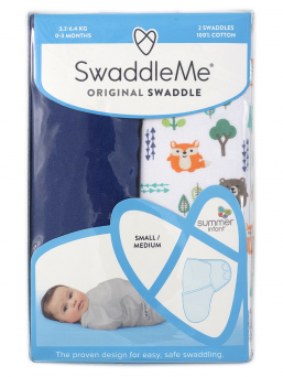 SwaddleMe kapalo 0-3kk 2-pack (into the woods)