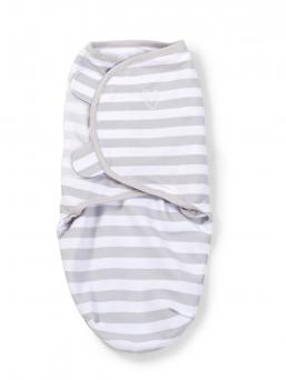 SwaddleMe kapalo 0-3kk (grey&white stripe)