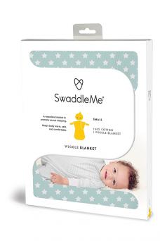 SwaddleMe Wiggle Blanket 8-24kk (teal/white star)