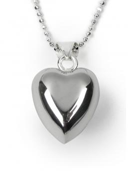 BOLA hopea - sydämenmuotoinen + hopeaketju 60cm
