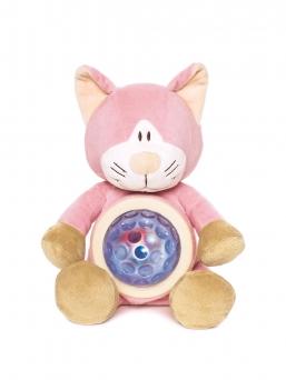Kissa yövalo tuo turvaa lapsellesi. Kun lapsi painaa yökaverin mahaa, syttyy siihen tähtiä heijastava yövalo. Kun lapsi painaa mahaa toisen kerran, alkaa pehmo vaihtamaan valon värejä.