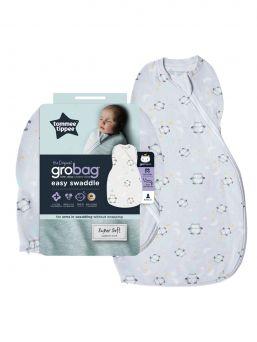 Turvallinen Tommee Tippee Grobag Easy Swaddle kapalo pitää vauvan lämpimänä ja parantaa unenlaatua sillä kapalo vähentää vauvan hätkähdysreagtioita.