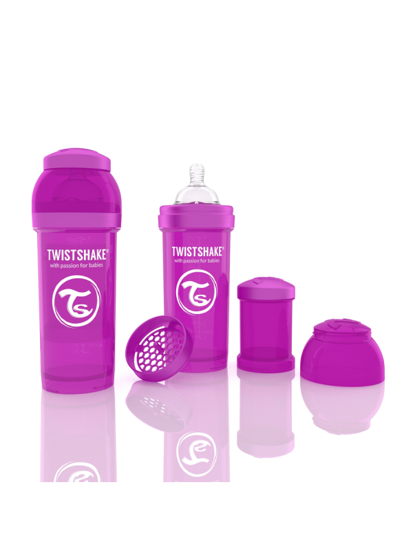 TwistShake tuttipullo on mahtava lisä rintaruokinnan rinnalle. TwistShake tuttipullo pakkaus sisältää lisäksi hyödyllisen säilytyspurkin jossa voi kuljettaa maitojauhetta.