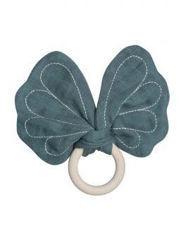 Fabelab kaunis perhosen mallinen purulelu, jota vauvan on mukava ja turvallinen pureskella ja ihmetellä pienin sormin.