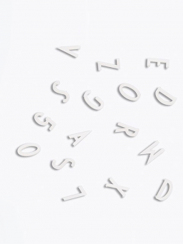 Letter Board kirjaimet (valkoinen)