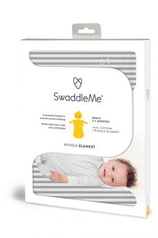 SwaddleMe Wiggle Blanket 2-7kk (grey stripe)