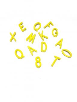 Letter Board kirjaimet (keltainen)