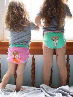 Zoocchini-harjoitteluhousut 3 kpl Woodland Princesses tytöille