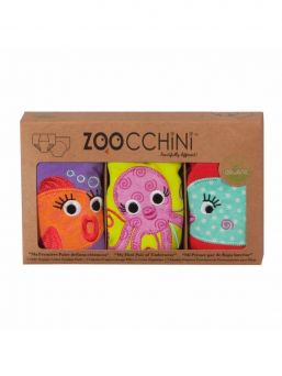 Zoocchini-harjoitteluhousut 3 kpl Ocean Friends tytöille