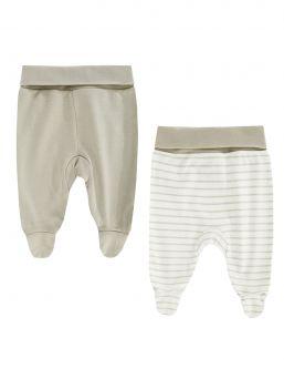 Vauvan housut, umpinaiset kärjet 2-PACK, hiekka | BOLEY