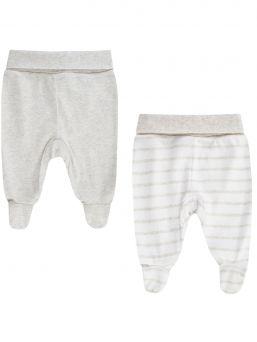 Vauvan housut, umpinaiset kärjet 2-PACK, harmaa | BOLEY