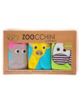 Zoocchini-harjoitteluhousut 3 kpl Safari Friends tytöille
