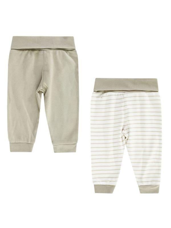 Vaaleansävyiset Boley vauvan pehmeät housut 2-PACK.