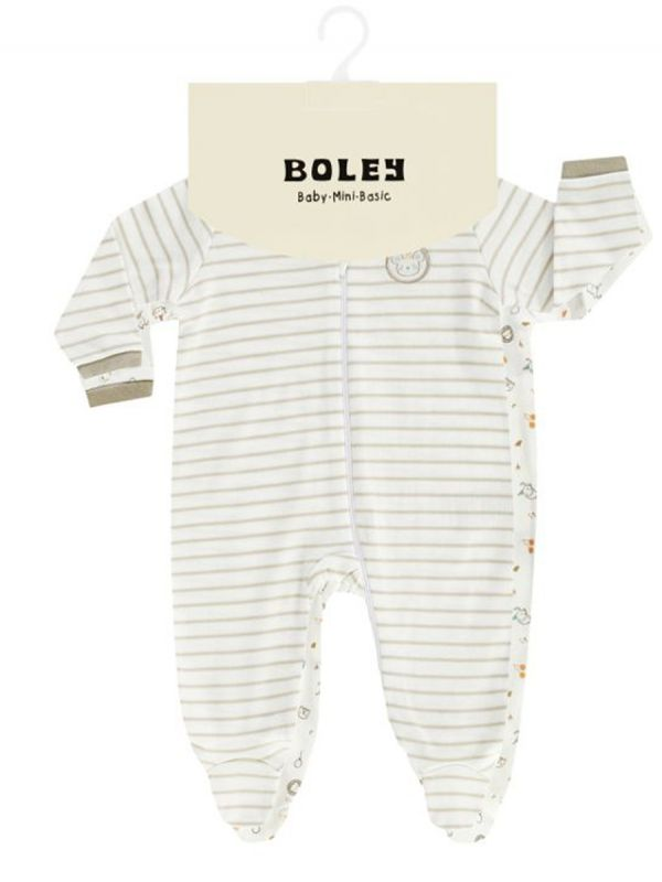 Vaaleansävyiset Boley pitkähihaiset vauvan halaarit, 2-PACK. Täydelliset yöpukuina.
